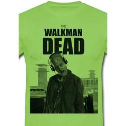 Póló The Walkman Dead - Férfi L méret (Zöld)
