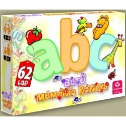 ABC betű memória kártya