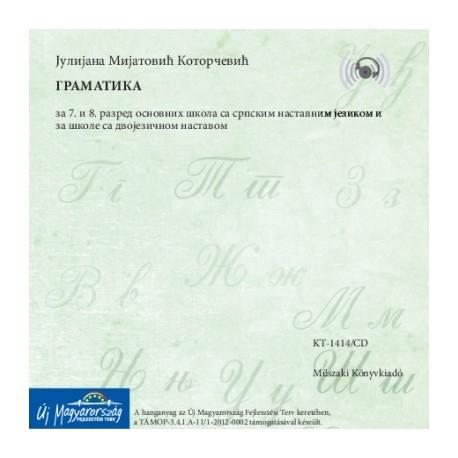 CD Gramatika za 7-8. razred (Szerb nyelvtan munkafüzet 7-8. hanganyag)
