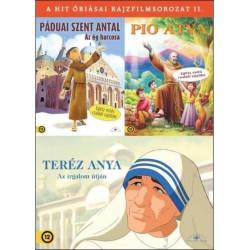 DVD A hit óriásai díszdoboz (3DVD - Páduai Szent Antal, Pio Atya, Teréz Anya)