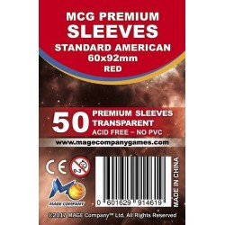 MCG Premium Standard US kártyavédő (60x92mm, 50 db/csomag)
