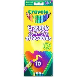 10 darabos radírvégű színes ceruza