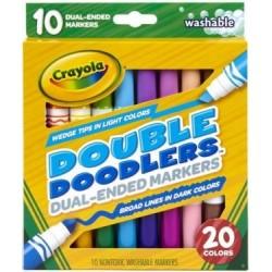 10 darabos kétféle végű és színű filcek