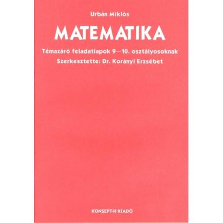 Matematika témazáró feladatlapok 9-10. osztályosoknak