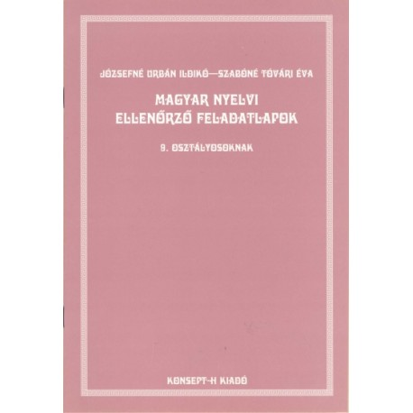 Magyar nyelvi feladatlapok 9.