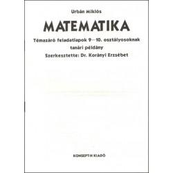 Matematika témazáró feladatlapok 9-10. osztályosoknak tanári példány
