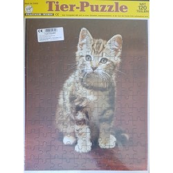Állatok puzzle 120 db-os - Cica