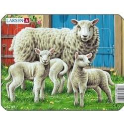 Larsen mini puzzle - Állatok a tanyán (Bárányok)