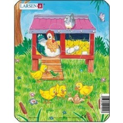 Larsen mini puzzle - Szelíd állatok (Tyúkos)