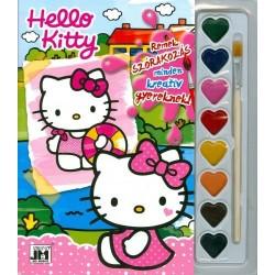 Hello Kitty - Kifestő vízfesték készlettel