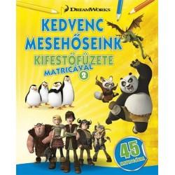 DreamWorks - Kedvenc mesehőseink kifestőfüzete matricával 2.