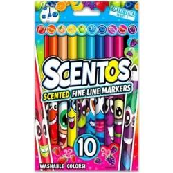 10 darabos illatos vékony filctoll - élénk színek
