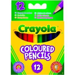 12 darabos félhosszú színes ceruza