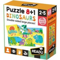 8+1 kétoldalas puzzle - Dinoszauruszok