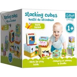 Baby toronyépítő kocka - A farmon