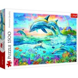 Delfin család puzzle 1500 darabos