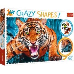 Crazy Shapes! - Egy tigrissel szemben puzzle 600 darabos