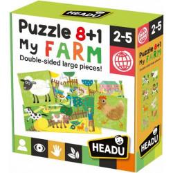 8+1 kétoldalas puzzle - Az én farmom