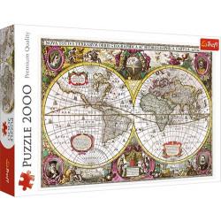 A Föld új föld és víz térképe 1630 puzzle 2000 darabos